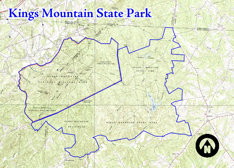 Kings Mountain State Park – Live Healthy Cleveland County on garner state park map, salisbury state park map, hillsborough state park map, indian trail state park map, henderson state park map, high point state park map,